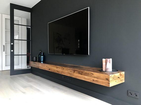 Tv Meubel Plank.Tv Wandmeubel Justarby Interieur